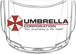 Наклейка на авто Umbrella corporation