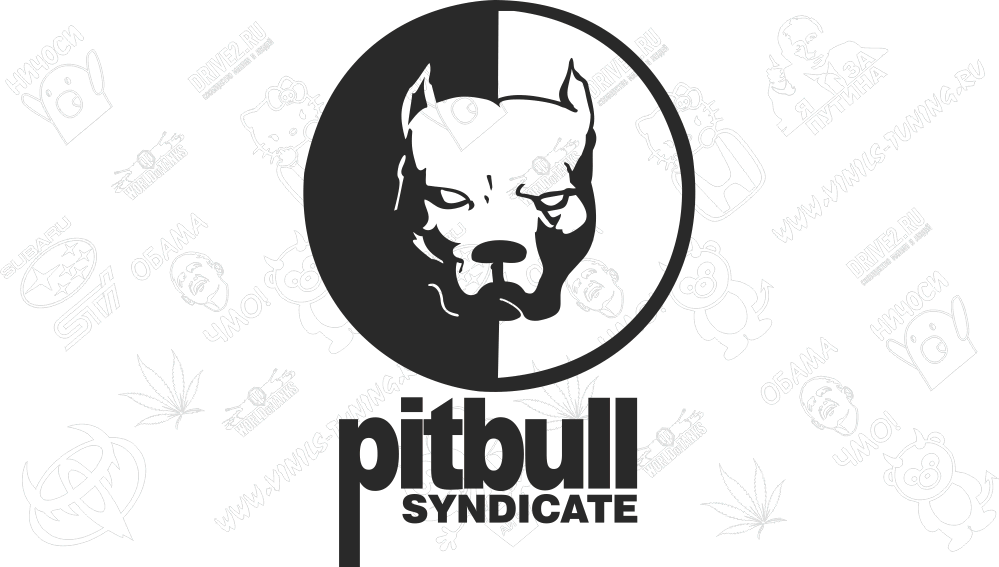 Наклейка на авто Pitbull Syndicate